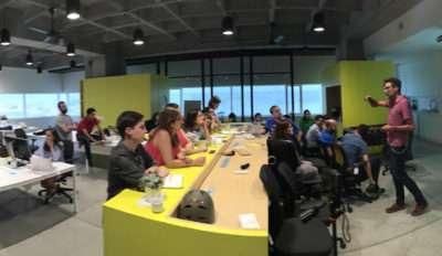 Clase en Designit Medellin a Bancolombia