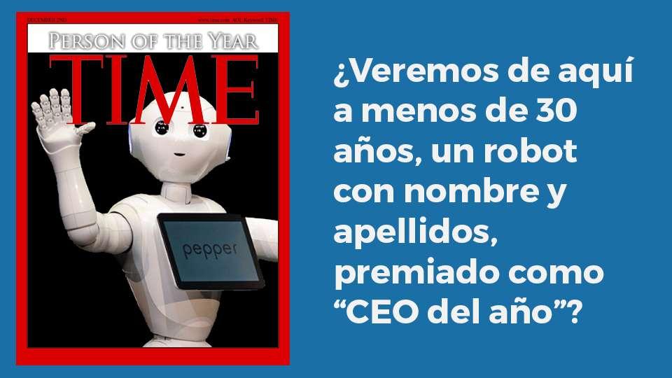 Veremos de aquí a menos de 30 años, un robot con nombre y apellidos, premiado como CEO del año