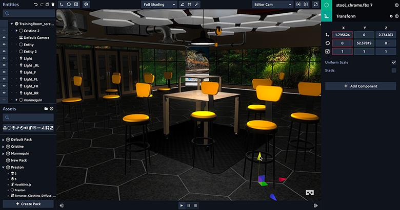 El objetivo es que se construyan y alojen aplicaciones VR (Realidad Virtual), AR (Realidad Aumentada) y 3D de forma rápida