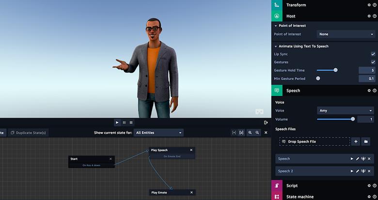 La versión beta incluye la capacidad de diseñar entornos de inmersión AR, VR y 3D utilizando bibliotecas de objetos preconstruidos